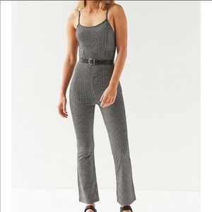 NWT URBAN OUTFITTERS - Black/White Plaid Jumpsuit